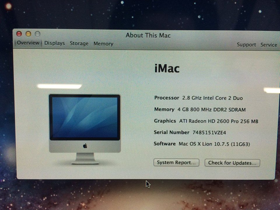Imac A1225 Hard Drive Upgrade 24 Inch Imac Early 2008