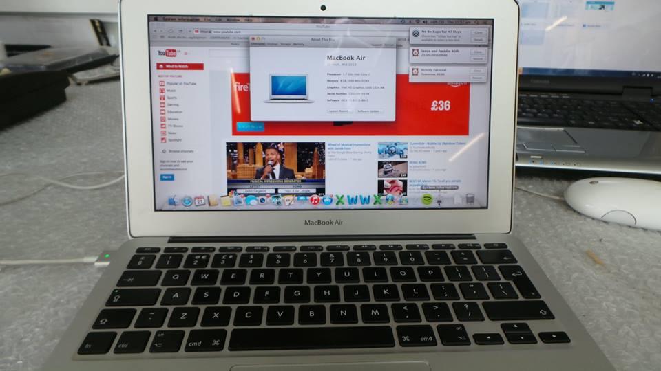 MacBook Air A1465 Liquid Damage Repair