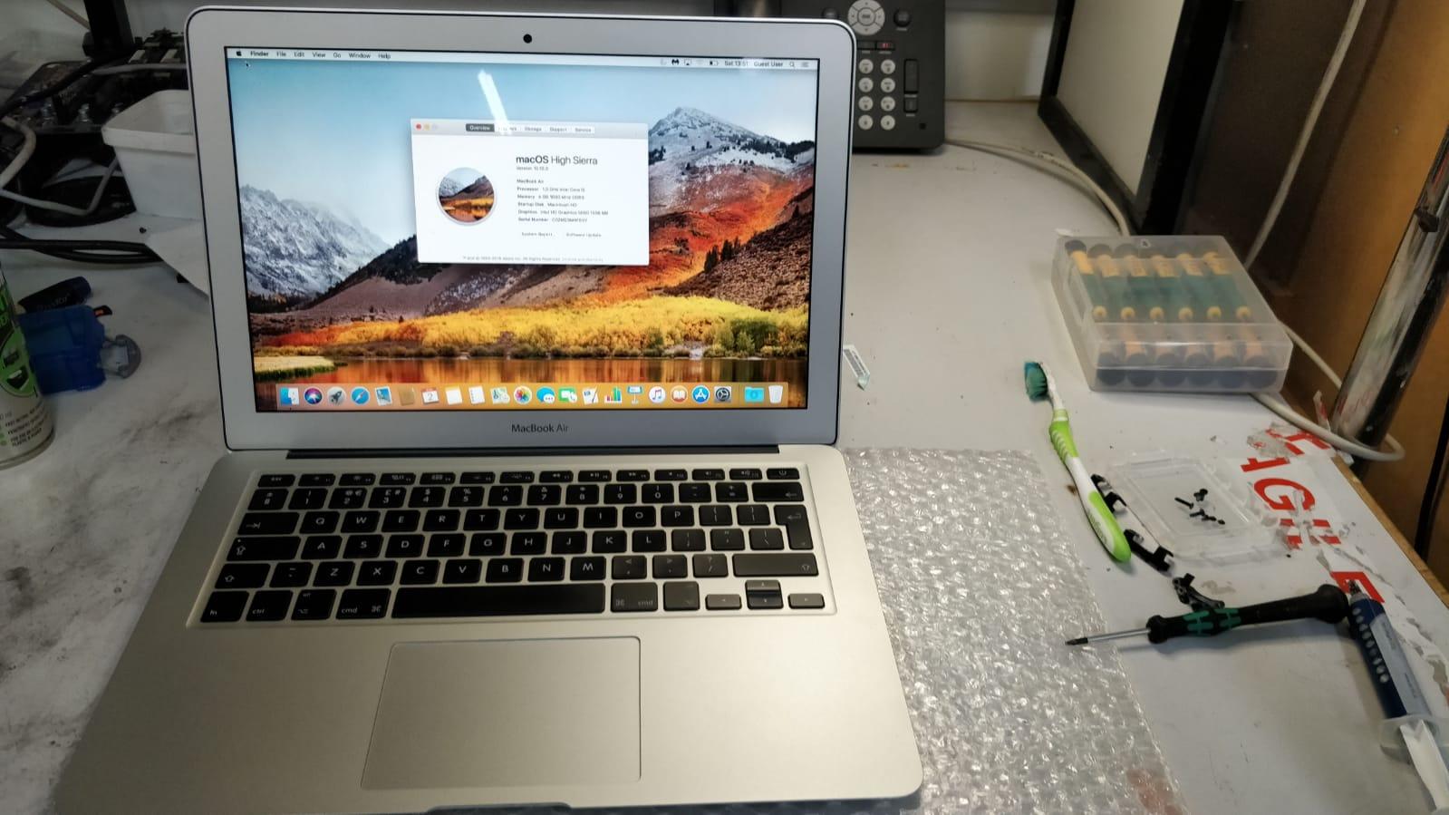 Apple MacBook Air (13-inch, Mid 2013) A1466 Liquid Damage Repair
